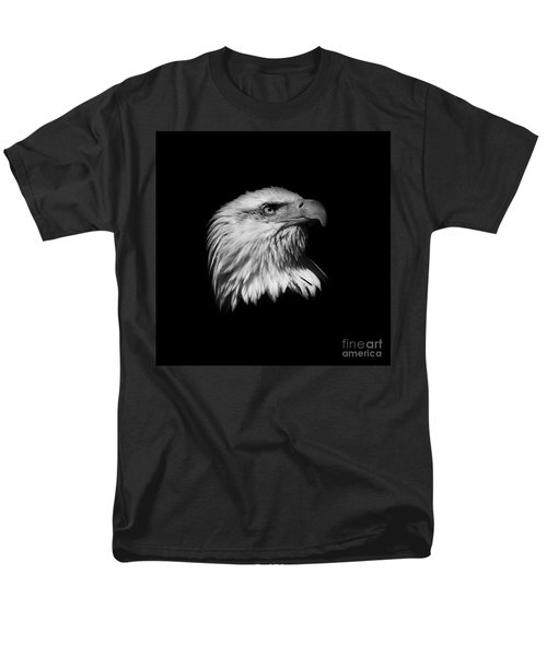 Black and White American Eagle T-Shirt by Steve McKinzie
