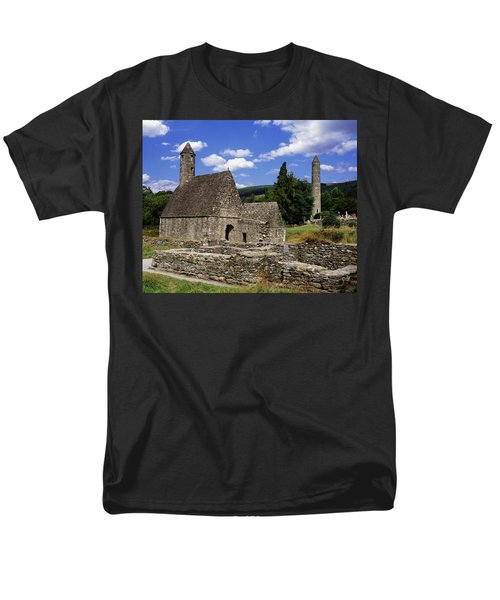 Chapel Of Saint Kevin At Glendalough T-Shirt by The Irish Image Collection