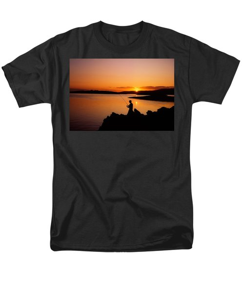 Angler At Sunset, Roaring Water Bay, Co T-Shirt by The Irish Image Collection