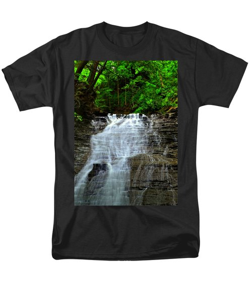 Cascading Falls T-Shirt by Frozen in Time Fine Art Photography