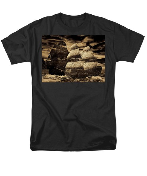 Catastrophic Collision-Sepia T-Shirt by Lourry Legarde