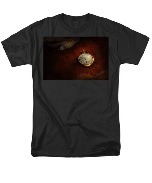 Clock - Time waits for nothing  T-Shirt by Mike Savad