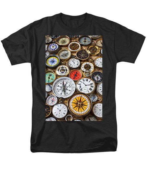 Compases And Pocket Watches  T-Shirt by Garry Gay