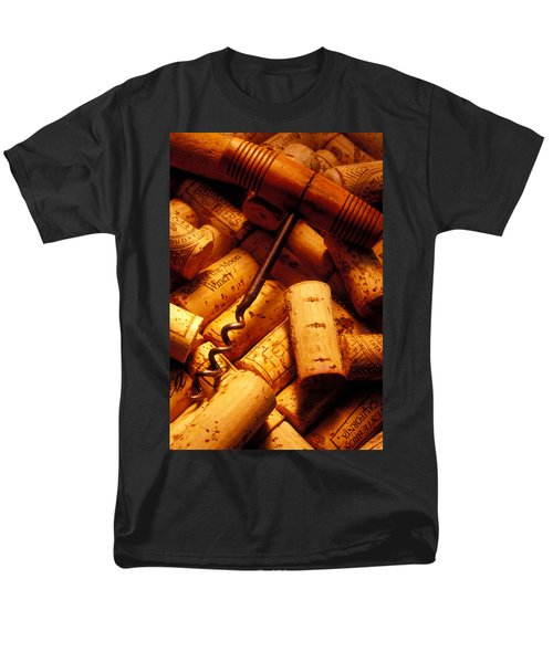 Corkscrew and wine corks T-Shirt by Garry Gay