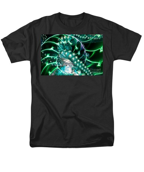 Creatures of The Deep - Octopus Caught In The Swirl Of The Giant Nautilus - Electric - Cyan T-Shirt by Wingsdomain Art and Photography