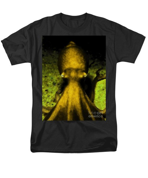 Creatures of The Deep - The Octopus - v4 - Gold T-Shirt by Wingsdomain Art and Photography