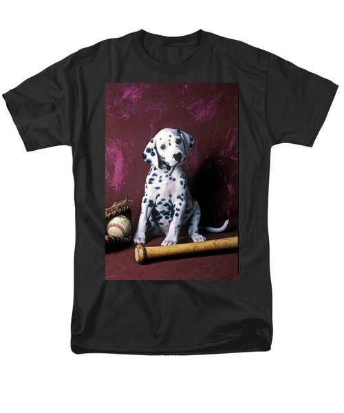 Dalmatian puppy with baseball T-Shirt by Garry Gay