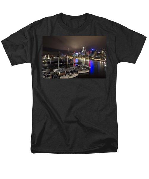 Darling Harbor Sydney Skyline 2 Men's T-Shirt  (Regular Fit) by Douglas Barnard