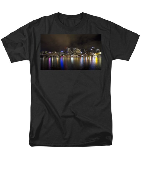 Darling Harbor Sydney Skyline Men's T-Shirt  (Regular Fit) by Douglas Barnard