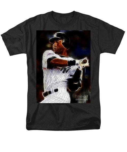 Derek Jeter New York Yankee Men's T-Shirt  (Regular Fit) by Paul Ward