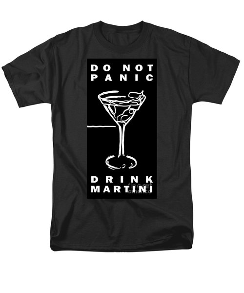 Do Not Panic - Drink Martini - Black T-Shirt by Wingsdomain Art and Photography