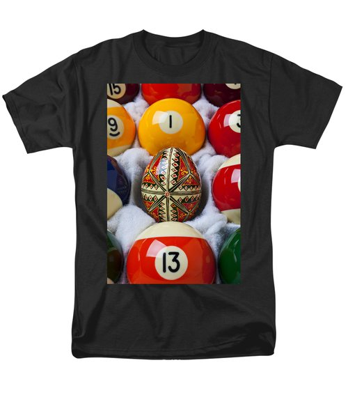Easter Egg Among Pool Balls T-Shirt by Garry Gay