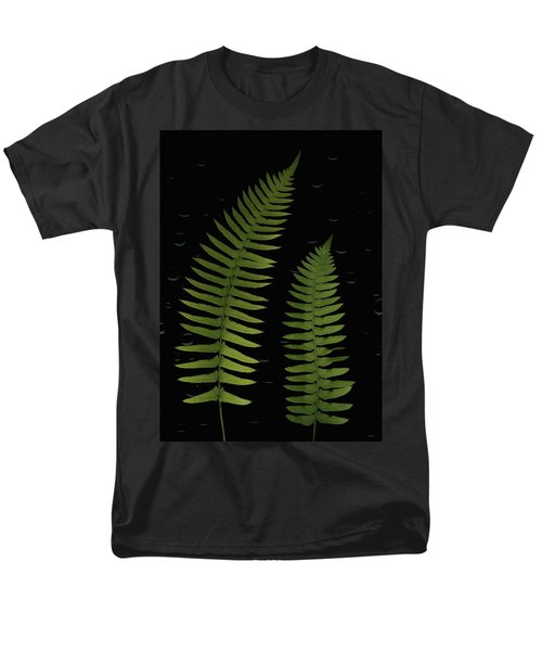 Fern Leaves With Water Droplets T-Shirt by Deddeda