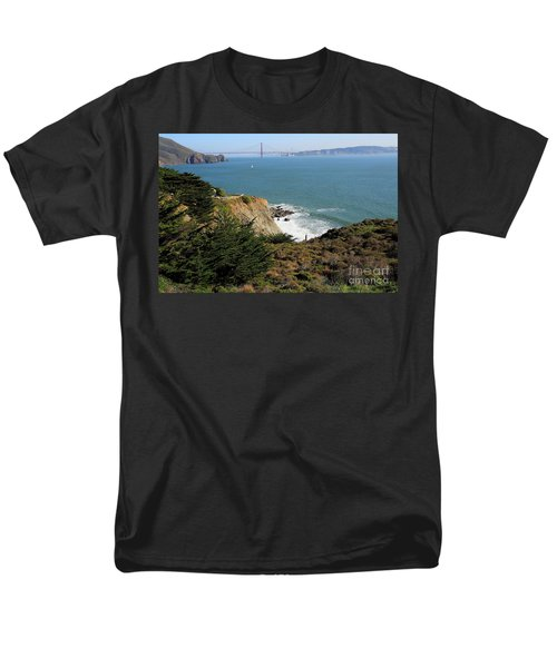 Golden Gate Bridge Viewed From The Marin Headlands T-Shirt by Wingsdomain Art and Photography