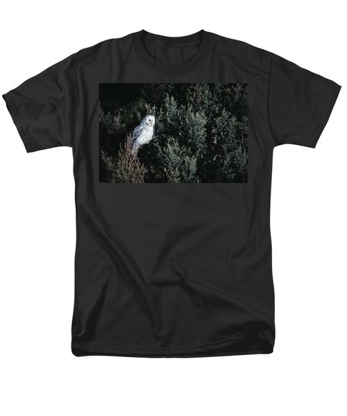 Great Gray Owl Strix Nebulosa In Blonde T-Shirt by Michael Quinton