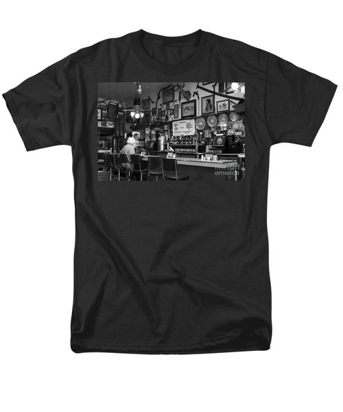 Historic Niles District in California Near Fremont . Bronco Billys Pizza Palace . 7D10707 . bw T-Shirt by Wingsdomain Art and Photography