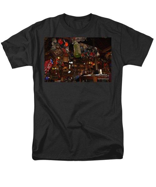 Inside the Bar in Luckenbach TX T-Shirt by Susanne Van Hulst