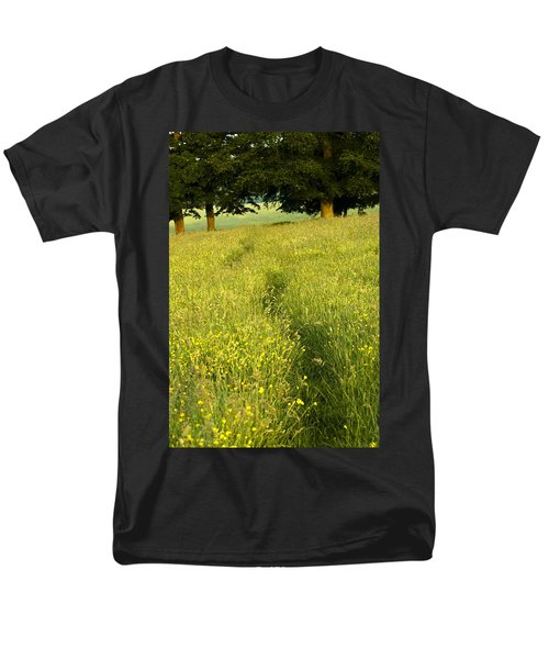 Ireland Trail Through Buttercup Meadow T-Shirt by Peter McCabe