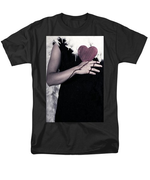 Lady With Blood And Heart Men's T-Shirt  (Regular Fit) by Joana Kruse