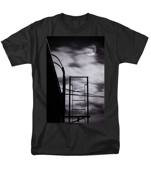 moon over brooklyn rooftop T-Shirt by Gary Heller