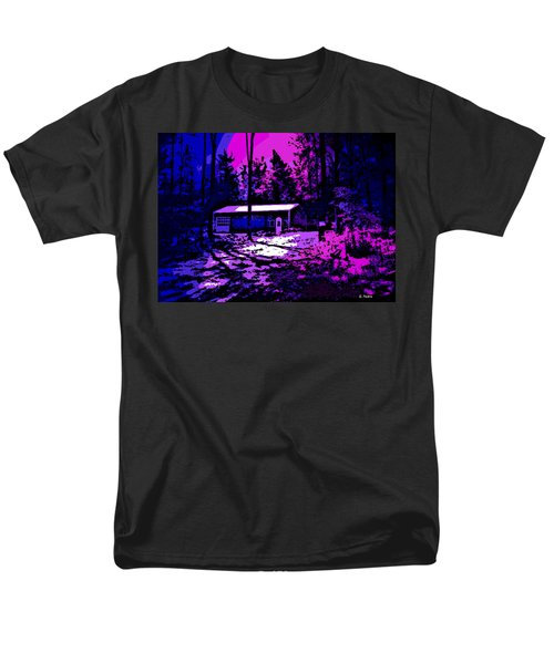 Moonlit Winter Night in the Poconos T-Shirt by George Pedro