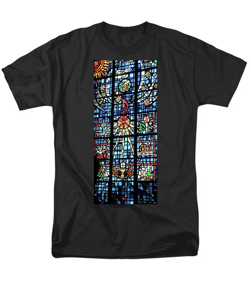 Orange Blue Stained Glass Window T-Shirt by Thomas Woolworth