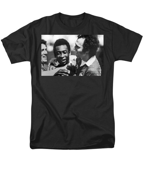 Pele & Beckenbauer, C1977 Men's T-Shirt  (Regular Fit) by Granger