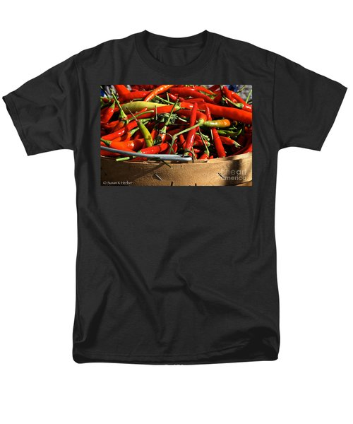 Peppers And More Peppers T-Shirt by Susan Herber