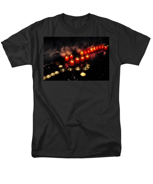 prague church candles T-Shirt by Stylianos Kleanthous