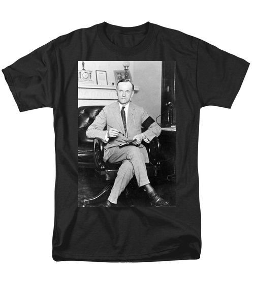President Calvin Coolidge Men's T-Shirt  (Regular Fit) by International  Images