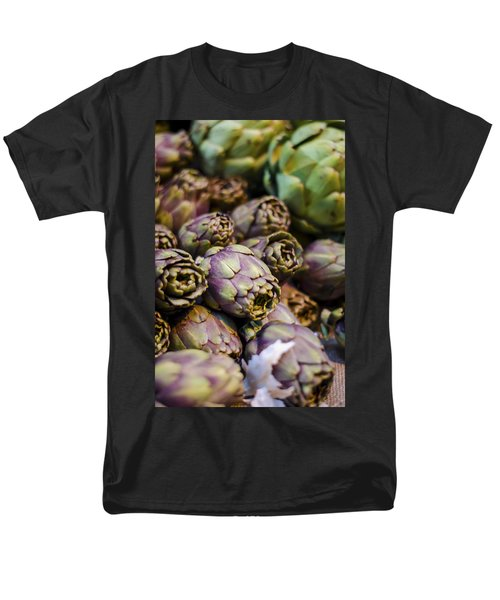 Purple Artichokes At the Market T-Shirt by Heather Applegate