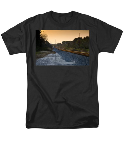 Railway Into Town T-Shirt by Carolyn Marshall