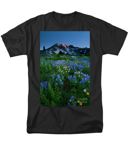Rainier Wildflower Dawn T-Shirt by Mike  Dawson