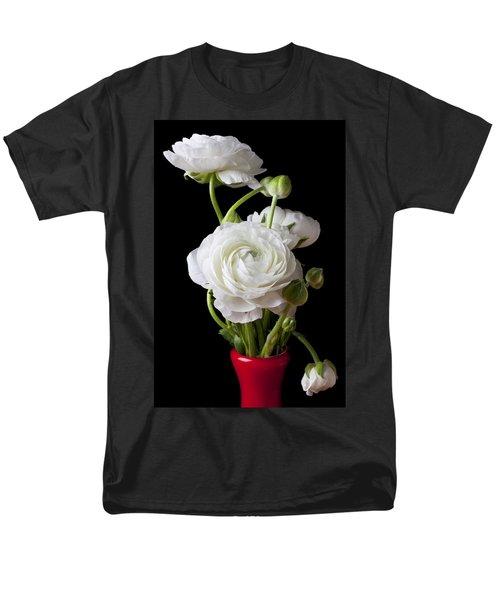 Ranunculus In Red Vase T-Shirt by Garry Gay
