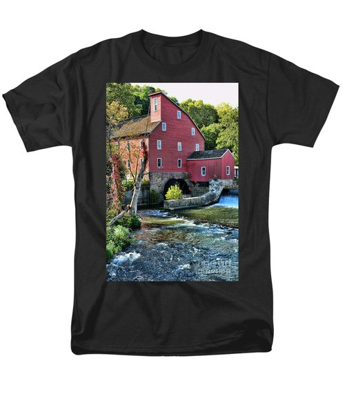 Red Mill on the water T-Shirt by Paul Ward