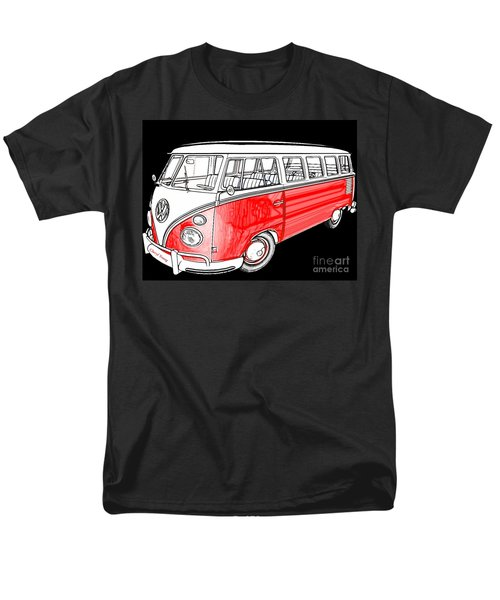 Red Volkswagen T-Shirt by Cheryl Young