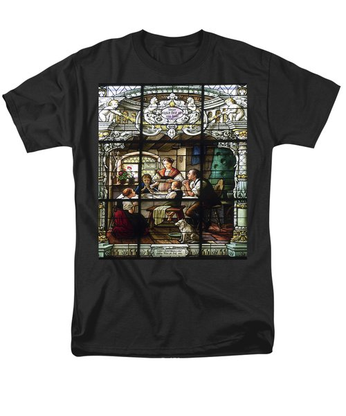 Stained Glass Family Giving Thanks T-Shirt by Sally Weigand