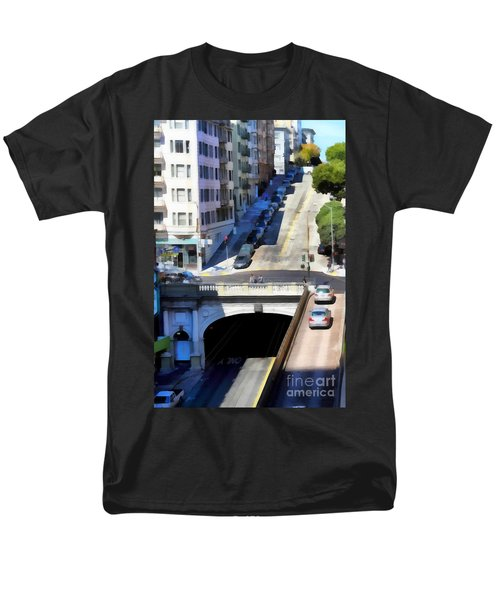 Stockton Street Tunnel in Hilly San Francisco . 7D7499 T-Shirt by Wingsdomain Art and Photography