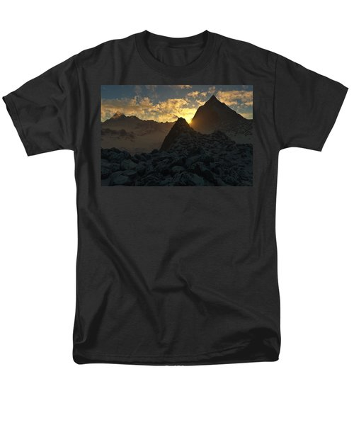 Sunset in the Stony Mountains T-Shirt by Hakon Soreide