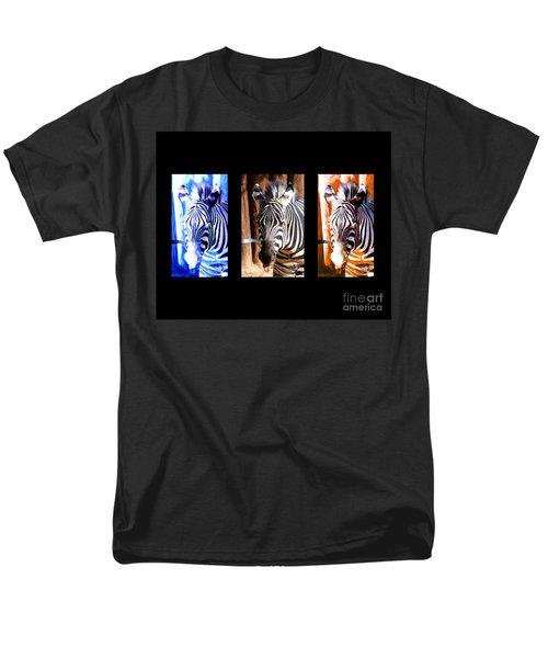 The Three Zebras black borders T-Shirt by Rebecca Margraf