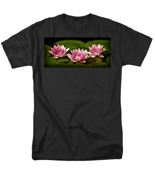Three Water Lilies T-Shirt by Susan Candelario