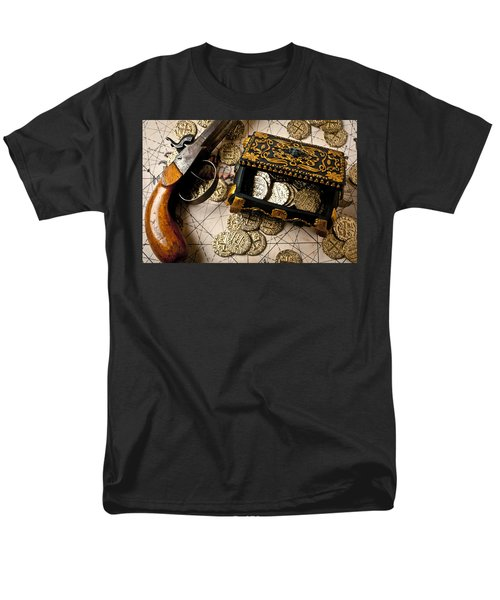 Treasure box with old pistol T-Shirt by Garry Gay