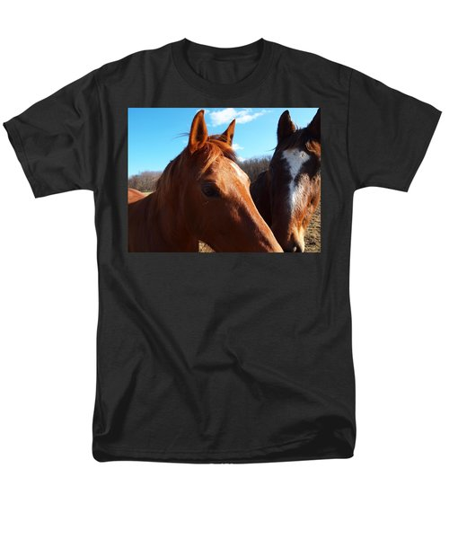 two horses in love T-Shirt by Robert Margetts