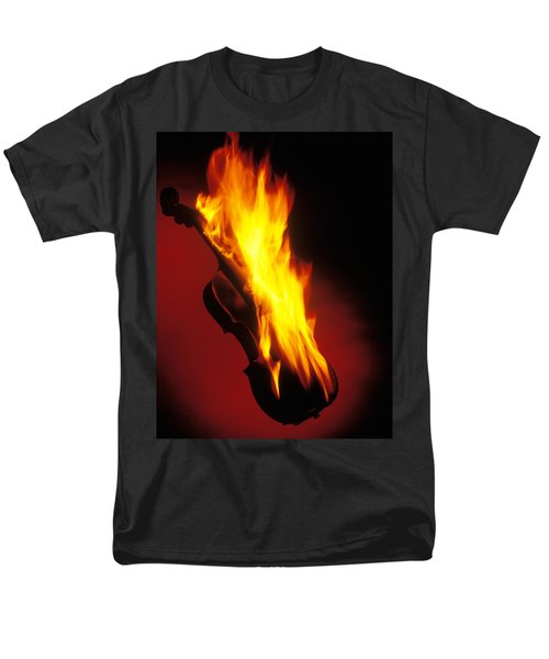 Violin on Fire T-Shirt by Garry Gay