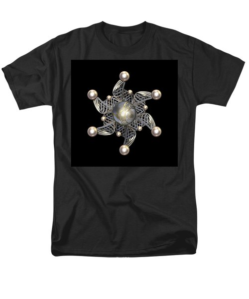 White Gold and Pearls T-Shirt by Hakon Soreide