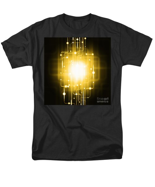 abstract circuit board lighting effect  T-Shirt by Setsiri Silapasuwanchai