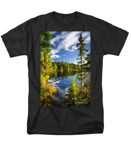 Forest and sky reflecting in lake T-Shirt by Elena Elisseeva