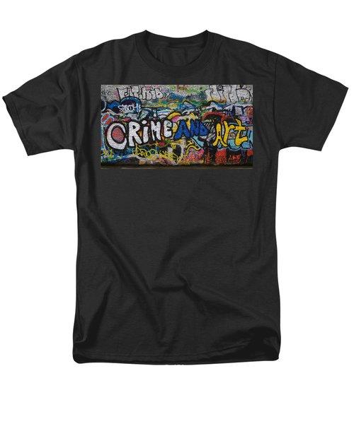 Grafitti On The U2 Wall, Windmill Lane Men's T-Shirt  (Regular Fit) by Panoramic Images