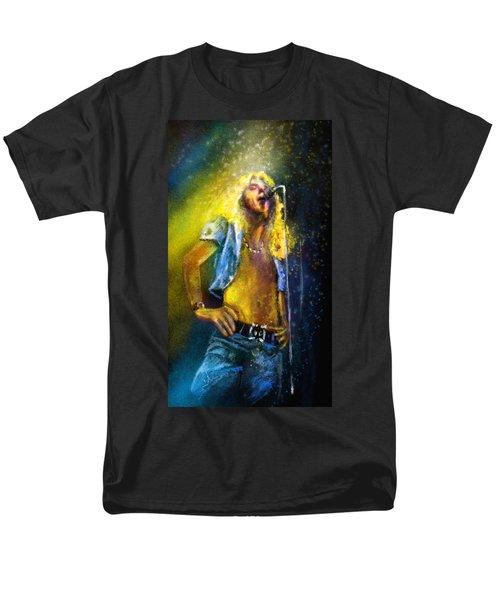 Robert Plant 01 Men's T-Shirt  (Regular Fit) by Miki De Goodaboom