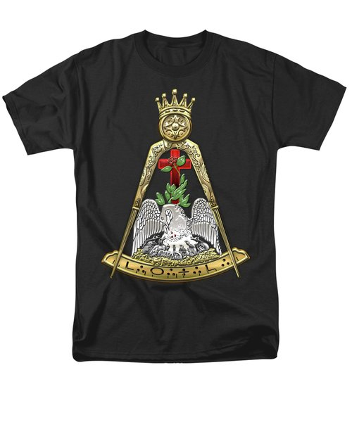 18th Degree Mason - Knight Rose Croix Masonic Jewel  Men's T-Shirt  (Regular Fit) by Serge Averbukh